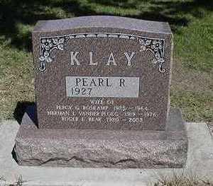 KLAY, PEARL R. - Sioux County, Iowa   PEARL R. KLAY
