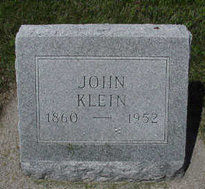 KLEIN, JOHN - Sioux County, Iowa   JOHN KLEIN