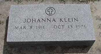 KLEIN, JOHANNA - Sioux County, Iowa | JOHANNA KLEIN