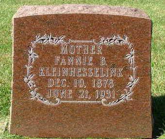 KLEINHESSELINK, FANNIE B. - Sioux County, Iowa | FANNIE B. KLEINHESSELINK