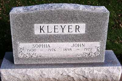 KLEYER, JOHN - Sioux County, Iowa | JOHN KLEYER