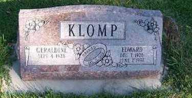 KLOMP, EDWARD - Sioux County, Iowa | EDWARD KLOMP