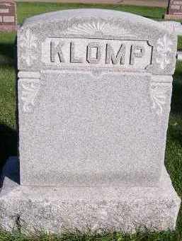 KLOMP, HEADSTONE - Sioux County, Iowa   HEADSTONE KLOMP