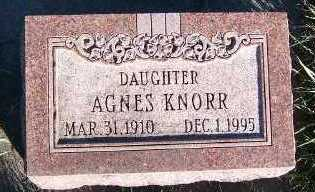 KNORR, AGNES - Sioux County, Iowa | AGNES KNORR