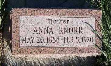 KNORR, ANNA - Sioux County, Iowa | ANNA KNORR