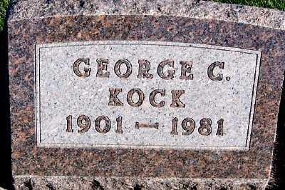 KOCK, GEORGE C. - Sioux County, Iowa | GEORGE C. KOCK