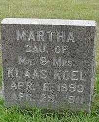 KOEL, MARTHA - Sioux County, Iowa   MARTHA KOEL