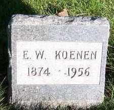 KOENEN, E.W. - Sioux County, Iowa   E.W. KOENEN