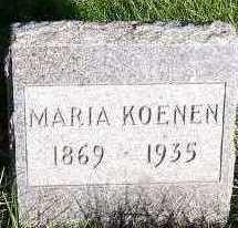 KOENEN, MARIA - Sioux County, Iowa   MARIA KOENEN