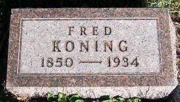 KONING, FRED - Sioux County, Iowa | FRED KONING