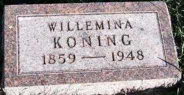 KONING, WILLEMINA - Sioux County, Iowa | WILLEMINA KONING