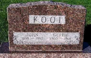 KOOI, GERTIE - Sioux County, Iowa | GERTIE KOOI