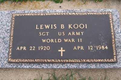 KOOI, LEWIS B. - Sioux County, Iowa | LEWIS B. KOOI