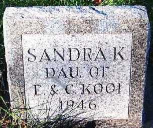 KOOI, SANDRA K. - Sioux County, Iowa | SANDRA K. KOOI