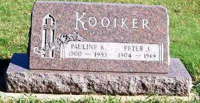 KOOIKER, PAULINE K. - Sioux County, Iowa | PAULINE K. KOOIKER