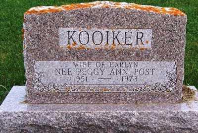 KOOIKER, PEGGY ANN (MRS. HARLYN) - Sioux County, Iowa | PEGGY ANN (MRS. HARLYN) KOOIKER