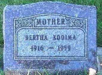 KOOIMA, BERTHA - Sioux County, Iowa   BERTHA KOOIMA