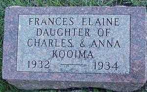 KOOIMA, FRANCES ELAINE - Sioux County, Iowa | FRANCES ELAINE KOOIMA
