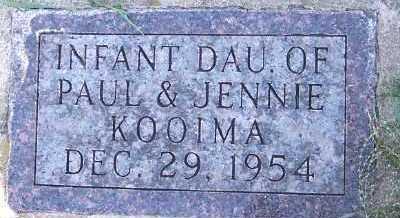 KOOIMA, INFANT DAUGHTER - Sioux County, Iowa | INFANT DAUGHTER KOOIMA