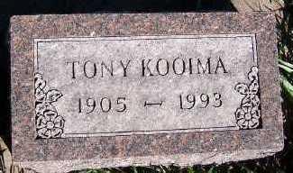 KOOIMA, TONY - Sioux County, Iowa   TONY KOOIMA