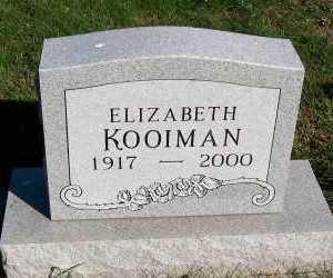 KOOIMAN, ELIZABETH - Sioux County, Iowa   ELIZABETH KOOIMAN