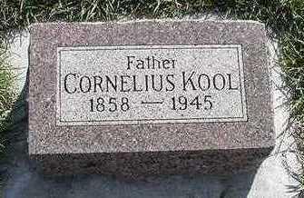 KOOL, CORNELIUS - Sioux County, Iowa   CORNELIUS KOOL