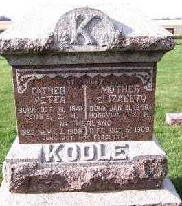 KOOLE, ELIZABETH - Sioux County, Iowa | ELIZABETH KOOLE