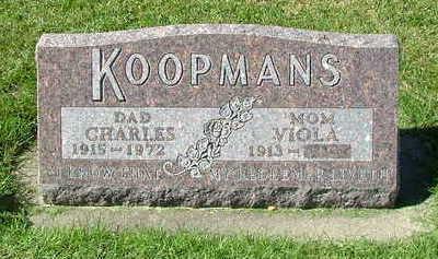 KOOPMANS, CHARLES - Sioux County, Iowa   CHARLES KOOPMANS