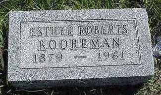 ROBERTS KOOREMAN, ESTHER - Sioux County, Iowa | ESTHER ROBERTS KOOREMAN