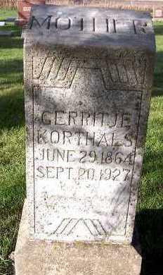 KORTHALS, GERRITJE - Sioux County, Iowa | GERRITJE KORTHALS