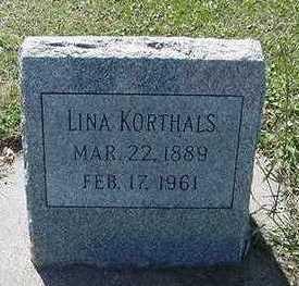 KORTHALS, LINA - Sioux County, Iowa | LINA KORTHALS