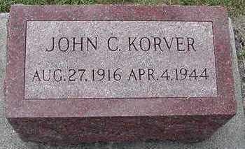 KORVER, JOHN C. - Sioux County, Iowa   JOHN C. KORVER