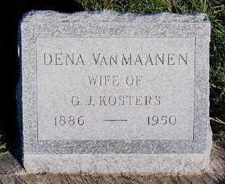 VANMAANEN KOSTERS, DENA (MRS. G.J.) - Sioux County, Iowa | DENA (MRS. G.J.) VANMAANEN KOSTERS