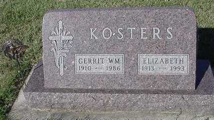 KOSTERS, GERRIT WM. - Sioux County, Iowa | GERRIT WM. KOSTERS