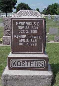 KOSTERS, FANNIE - Sioux County, Iowa | FANNIE KOSTERS