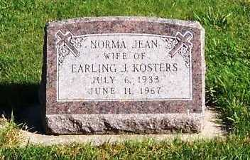 KOSTERS, NORMA JEAN (MRS. EARLING) - Sioux County, Iowa | NORMA JEAN (MRS. EARLING) KOSTERS