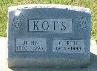 KOTS, GERTIE (MRS. JOHN) - Sioux County, Iowa | GERTIE (MRS. JOHN) KOTS
