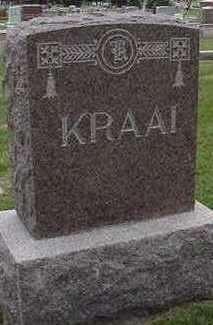 KRAAI, HEADSTONE - Sioux County, Iowa | HEADSTONE KRAAI