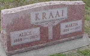 KRAAI, ALICE - Sioux County, Iowa | ALICE KRAAI