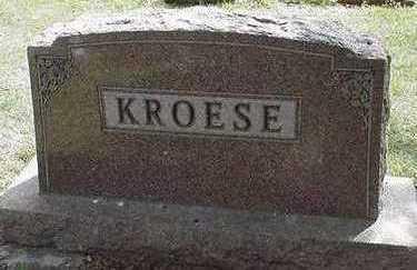 KROESE, HEADSTONE - Sioux County, Iowa | HEADSTONE KROESE