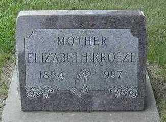 KROEZE, ELIZABETH - Sioux County, Iowa | ELIZABETH KROEZE