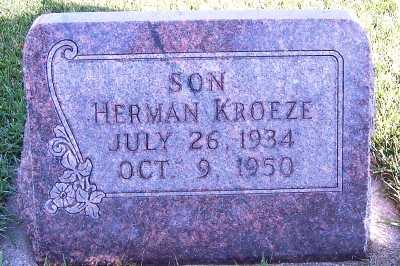 KROEZE, HERMAN - Sioux County, Iowa | HERMAN KROEZE