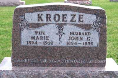 KROEZE, JOHN C. - Sioux County, Iowa | JOHN C. KROEZE