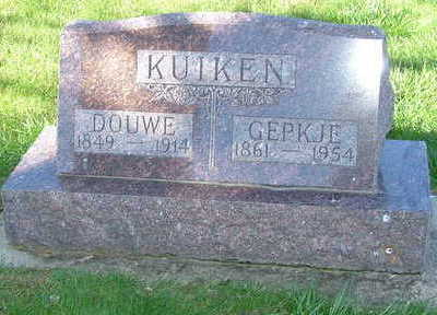 KUIKEN, GEPKJE (MRS. DOUWE) - Sioux County, Iowa | GEPKJE (MRS. DOUWE) KUIKEN