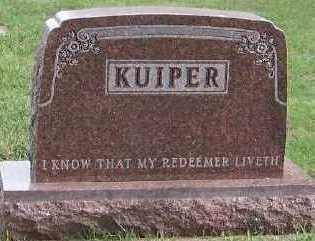 KUIPER, HEADSTONE - Sioux County, Iowa   HEADSTONE KUIPER
