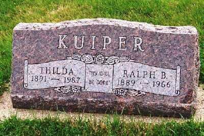 KUIPER, RALPH B. - Sioux County, Iowa   RALPH B. KUIPER