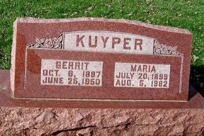 KUYPER, MARIA - Sioux County, Iowa | MARIA KUYPER