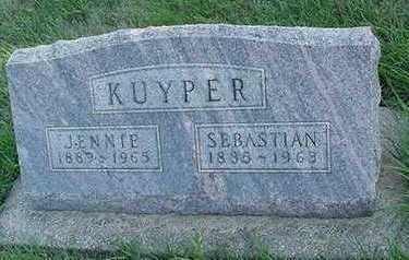 KUYPER, JENNIE (MRS. SEBASTIAN) - Sioux County, Iowa | JENNIE (MRS. SEBASTIAN) KUYPER