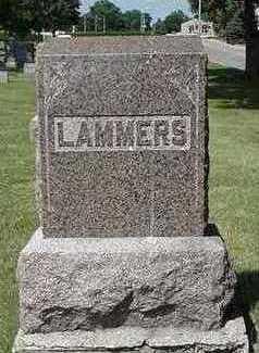 LAMMERS, HEADSTONE - Sioux County, Iowa   HEADSTONE LAMMERS