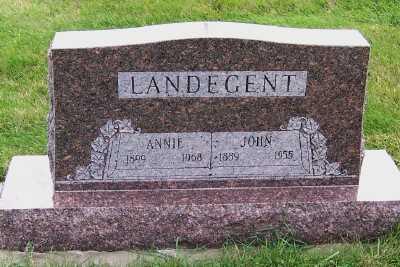 LANDEGENT, ANNIE - Sioux County, Iowa   ANNIE LANDEGENT